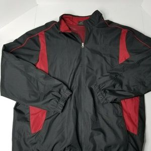 Starter Black And Red Zip Up Windbreaker Size L